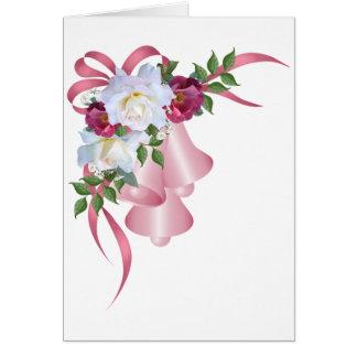 Belces rosadas con los rosas y las cintas tarjeta de felicitación
