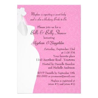 Belces y Belly nupciales y fiesta de bienvenida al Invitación Personalizada