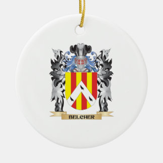 Belcher Coat of Arms - Family Crest Ceramic Ornament