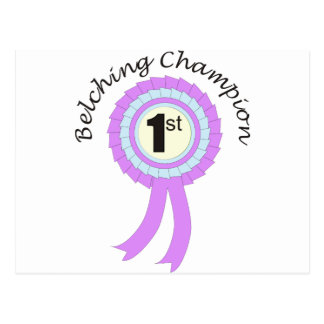 Belching Champion Post Cards