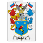 Beldy Family Hungarian Coat of Arms Card