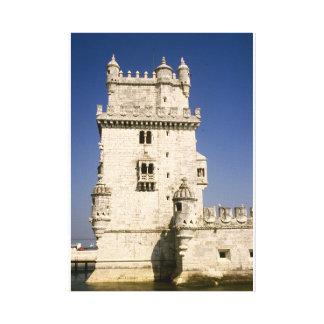 Belém fortificó la torre, río el Tajo, Lisboa Impresiones En Lona Estiradas