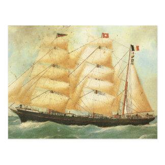 Belem, French Sailing ship, 1902 Postcard