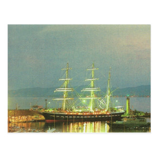 Belem in St Raphael, French Sailing ship, Postcard