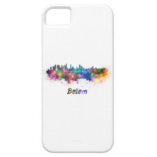 Belem skyline in watercolor iPhone SE/5/5s case