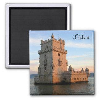 Belem Tower in Lisbon 2 Inch Square Magnet
