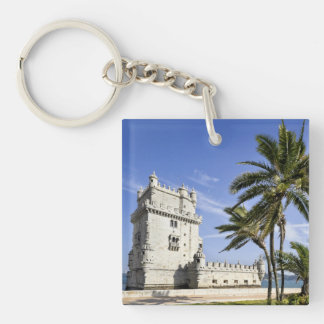Belem Tower, Lisbon, Portugal Double-Sided Square Acrylic Keychain