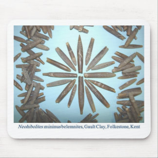 Belemnite fossils pattern mousemats
