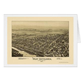 Belén del oeste, mapa panorámico del PA - 1894 Tarjeta De Felicitación