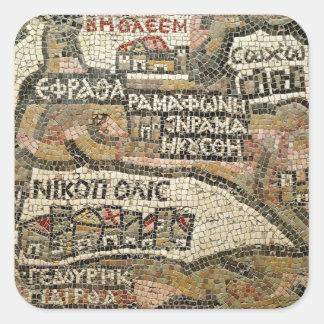 Belén, detalle de un mapa de Jericó Pegatinas Cuadradases