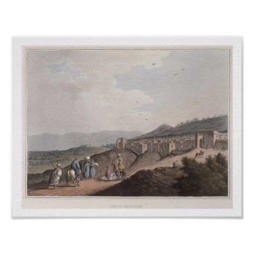 Belén en Palestina, vista de la parte principal Póster