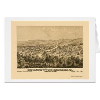 Belén y Belén del sur, mapa panorámico 1877 del PA Tarjeta De Felicitación