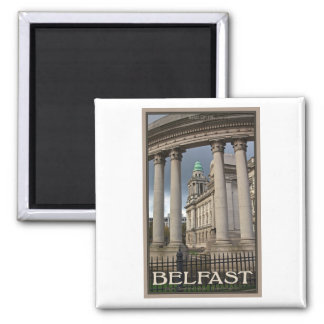 Belfast City Hall 2 Inch Square Magnet