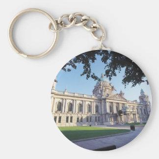 Belfast City Hall Basic Round Button Keychain