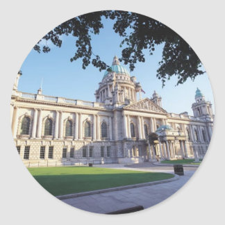 Belfast City Hall Classic Round Sticker