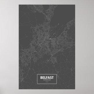 Belfast, Irlanda del Norte (blanca en negro) Posters