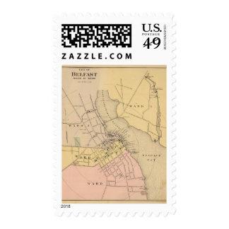 Belfast, Maine 2 Postage Stamps
