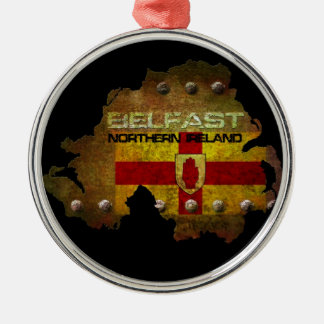 Belfast Northern Ireland Metal Ornament