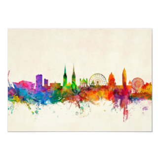 Belfast Northern Ireland Skyline 5x7 Paper Invitation Card
