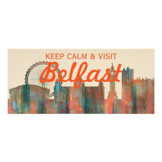 BELFAST, NORTHERN IRELAND SKYLINE RACK CARD