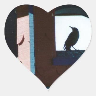 Belfry Bird Heart Sticker
