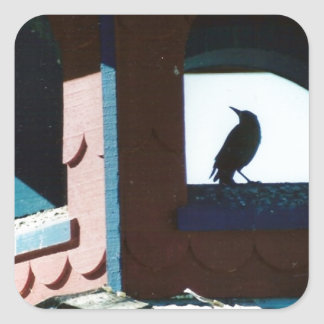 Belfry Bird Square Sticker