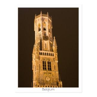 Belfry in Bruges Postcard