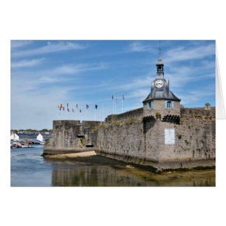 Belfry of Ville Close of Concarneau in France Card