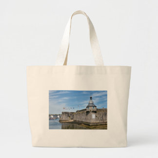 Belfry of Ville Close of Concarneau in France Large Tote Bag