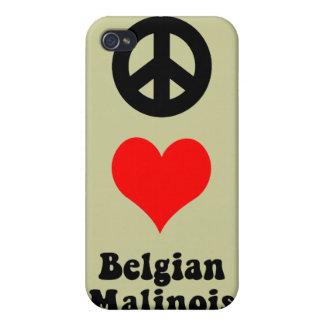 Belga Malinois del amor de la paz iPhone 4 Protector