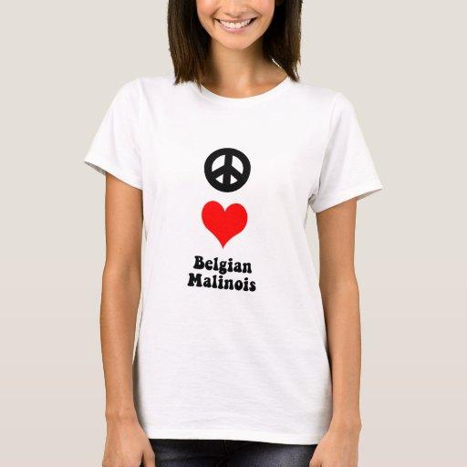 Belga Malinois del amor de la paz Playera