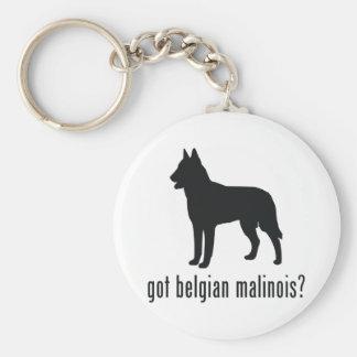 Belga Malinois Llavero Redondo Tipo Pin
