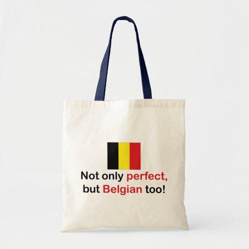 Belga perfecto bolsa lienzo