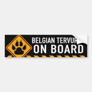 Belga Tervuren a bordo Etiqueta De Parachoque
