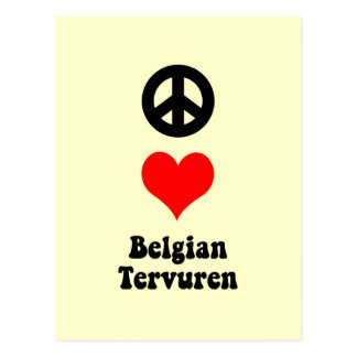 belga Tervuren del amor de la paz Postales
