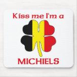 Belgas personalizada me besan que soy Michiels Alfombrillas De Ratón