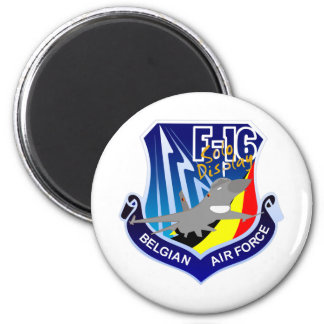 Belgian Air Froce F-16 Patch 2 Inch Round Magnet
