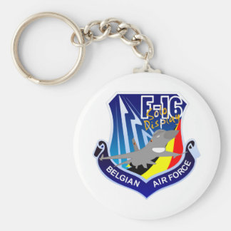 Belgian Air Froce F-16 Patch Keychain