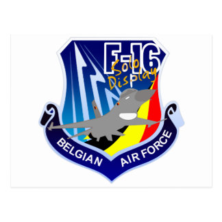 Belgian Air Froce F-16 Patch Postcard