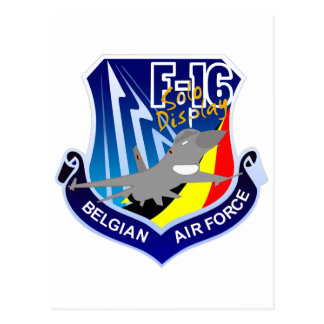 Belgian Air Froce F-16 Patch Post Cards