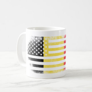 Belgian American Flag   Belgium and USA Design Coffee Mug