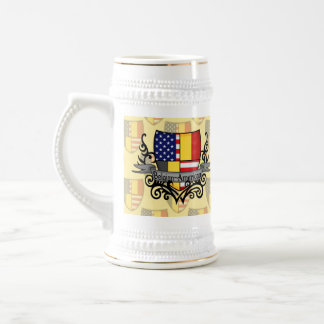 Belgian-American Shield Flag Beer Stein