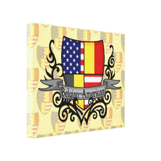 Belgian-American Shield Flag Canvas Print