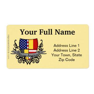 Belgian-American Shield Flag Label