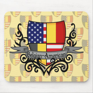 Belgian-American Shield Flag Mouse Pad