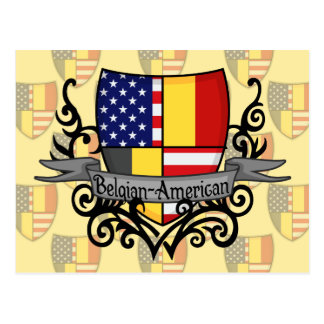 Belgian-American Shield Flag Postcard