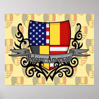 Belgian-American Shield Flag Poster