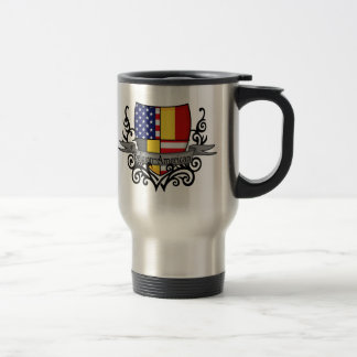 Belgian-American Shield Flag Travel Mug