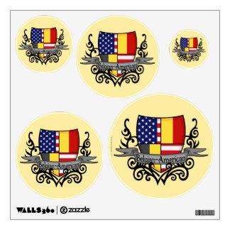 Belgian-American Shield Flag Wall Decal