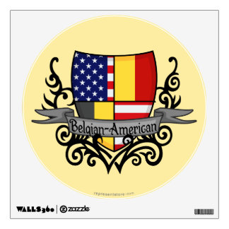 Belgian-American Shield Flag Wall Sticker